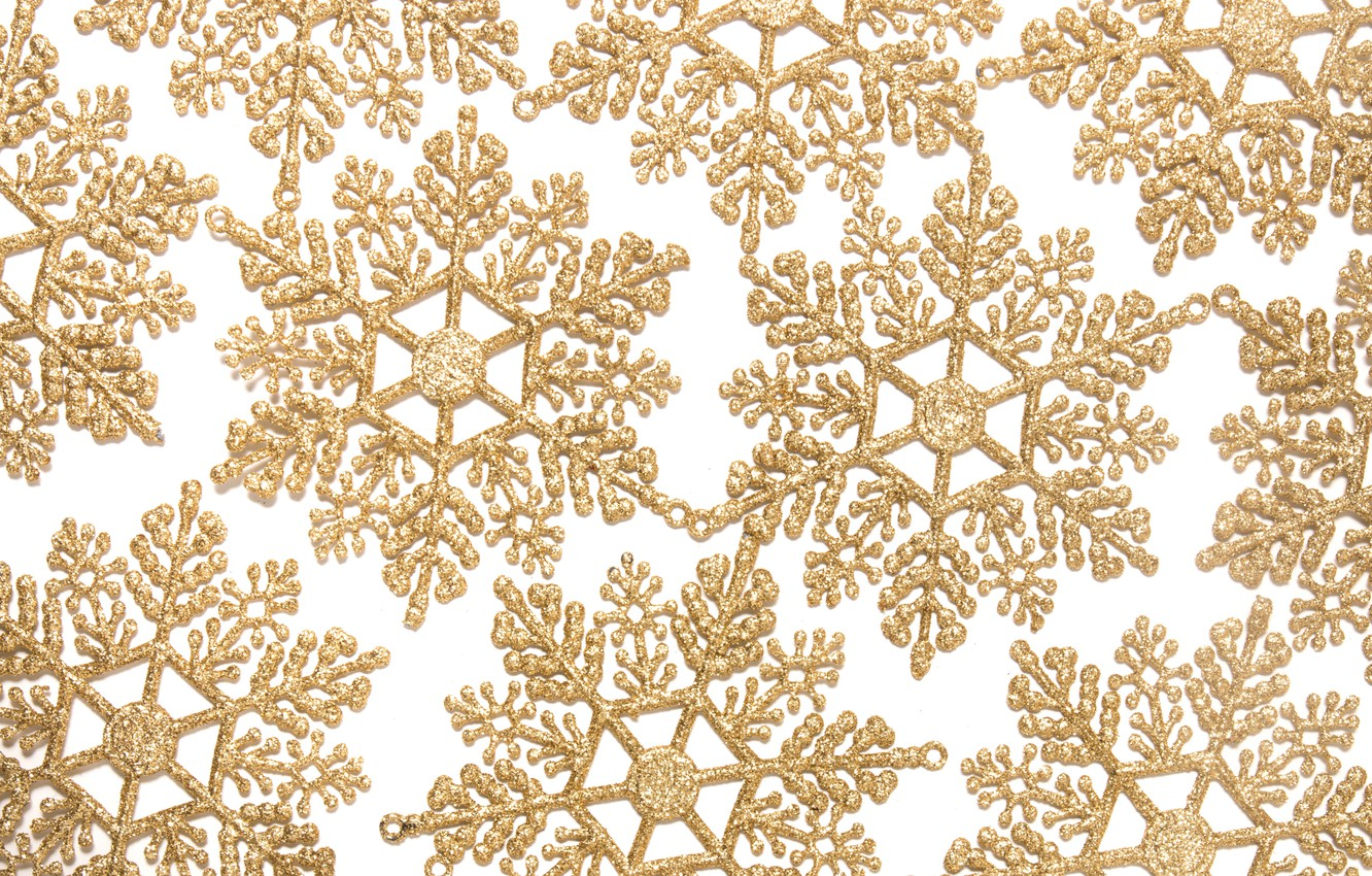 Photo wallpaper winter, snowflakes, background, New Year, Christmas, golden, Christmas, winter, background, New Year, snowflakes