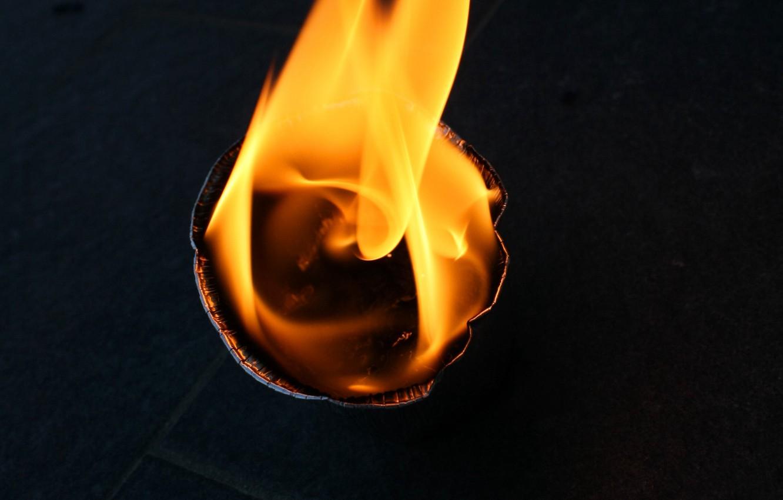 Photo wallpaper fire, flame, capacity
