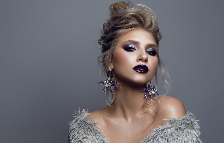 Photo wallpaper girl, style, makeup, Korabkova