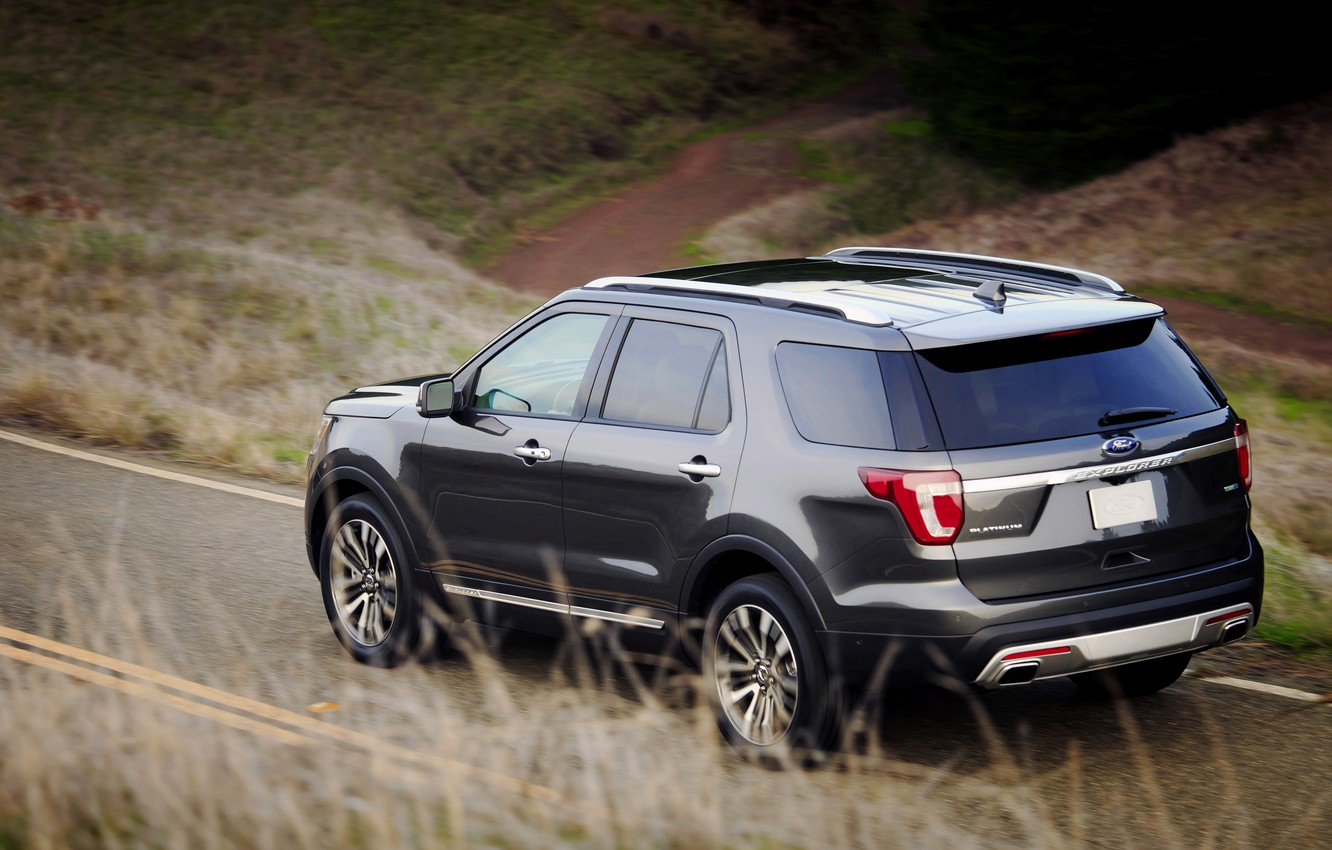 Photo wallpaper Ford, SUV, Explorer, on the road, 2016
