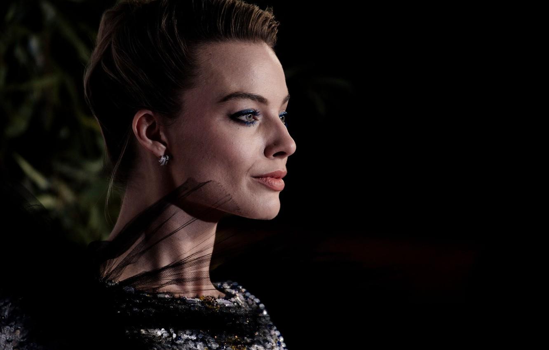 Photo wallpaper blonde, profile, Margot Robbie