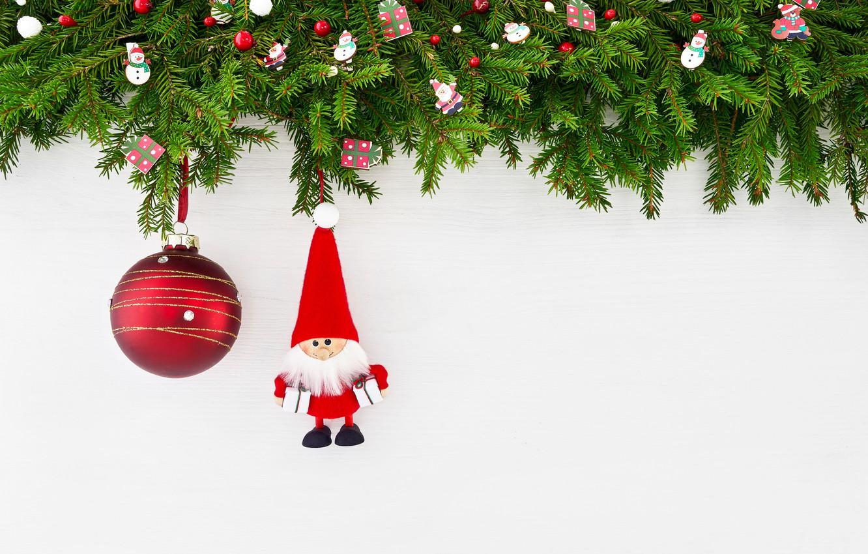 Photo wallpaper branches, ball, Christmas, ate, Santa, decor, Rights Reserved, LAIMDOTA GRIVANE