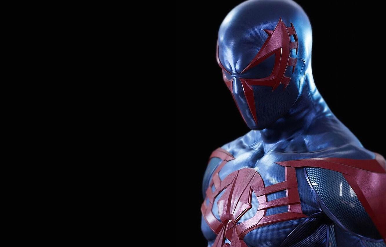 Photo wallpaper background, hero, costume, spider-man 2099, spider-man 2099