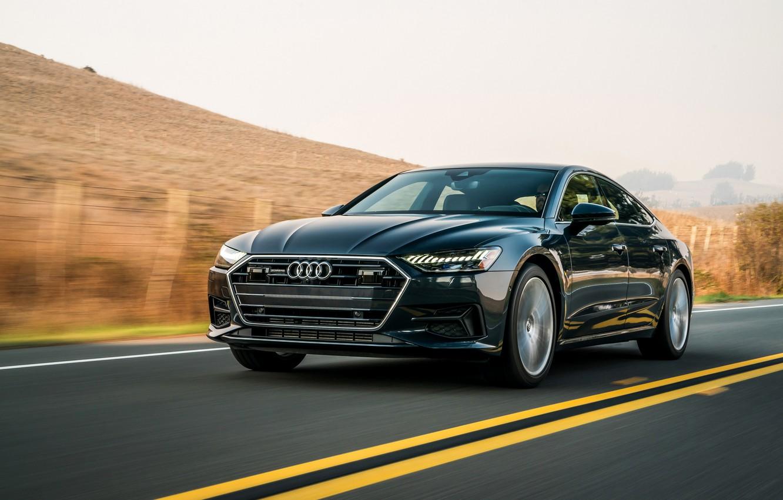 Photo wallpaper Audi, track, 2019, A7 Sportback