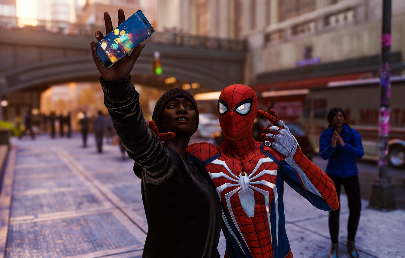 Wallpaper Smartphone Spider Man Selfie Ps4 Spider Man Spider Man Ps4 Images For Desktop Section Igry Download