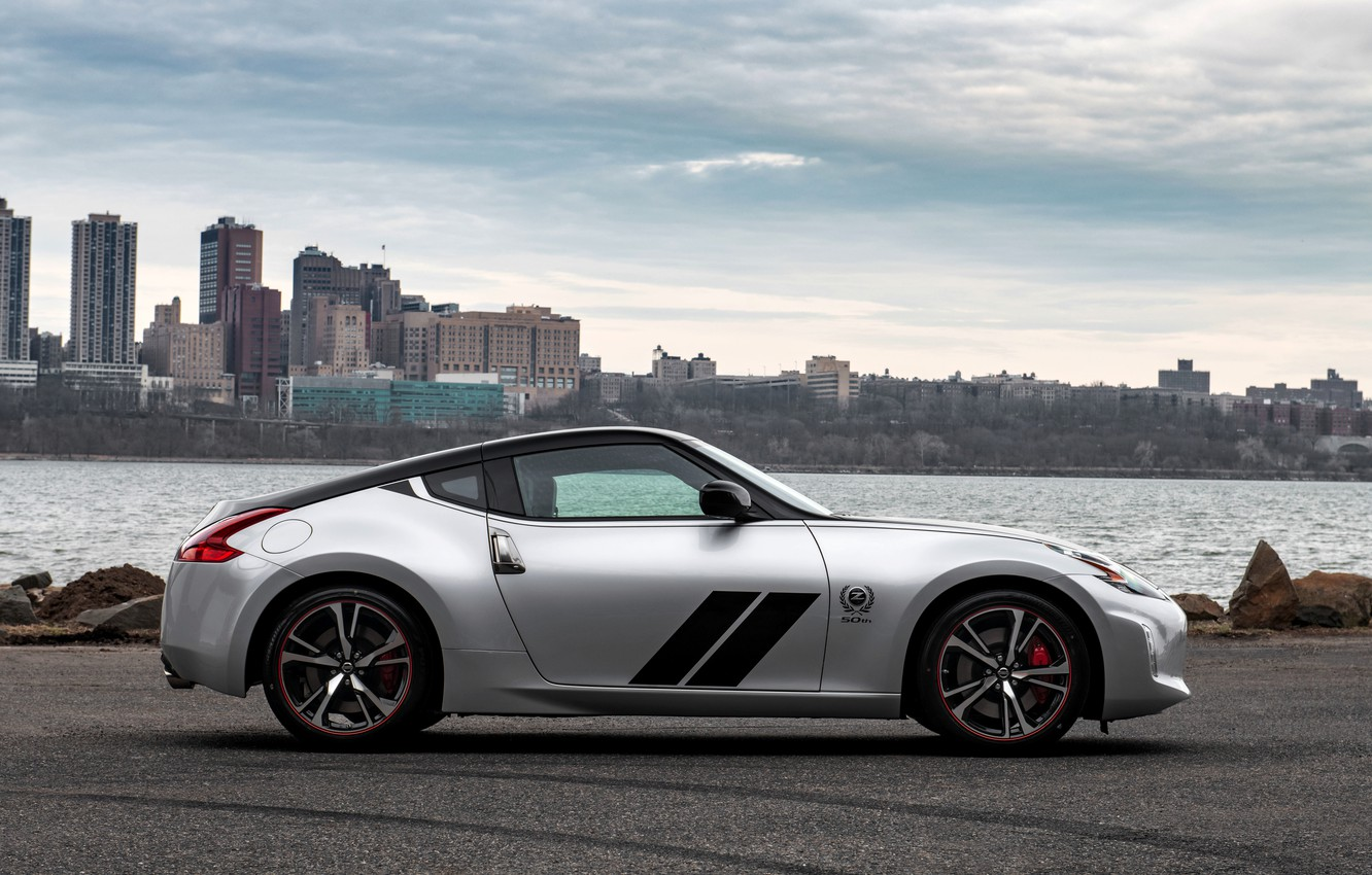 Photo wallpaper coupe, profile, Nissan, 370Z, 50th Anniversary Edition, 2020, 2019, black and silver grey