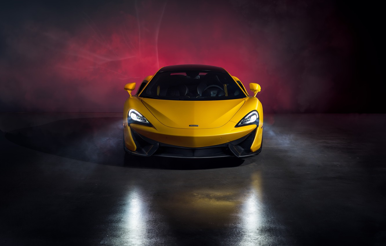 Photo wallpaper McLaren, supercar, front view, MSO, 570S, by Jimmy Zhang