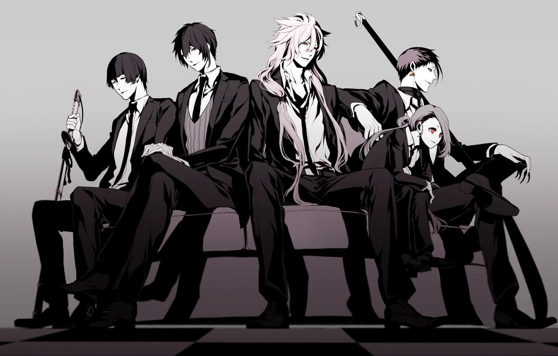 Photo wallpaper anime, art, guys, handsome, Touken ranbu, Dance Of Swords