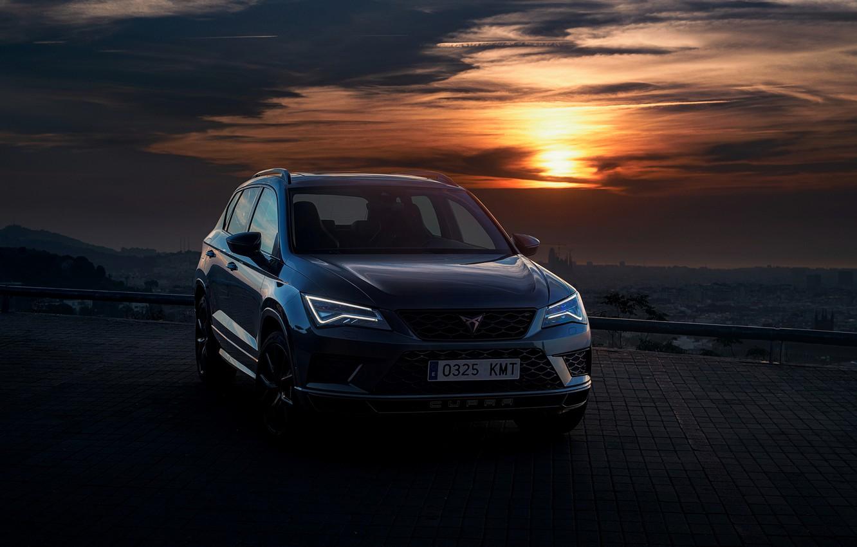 Photo wallpaper sunset, the evening, 2018, SUV, Seat, Cupra, Ateca