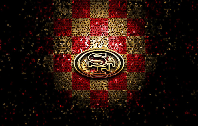 Wallpaper Wallpaper Sport Logo Nfl Glitter Checkered San Francisco 49ers Images For Desktop Section Sport Download