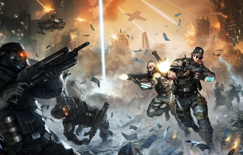 Photo wallpaper killzone, helghast, killzone 2