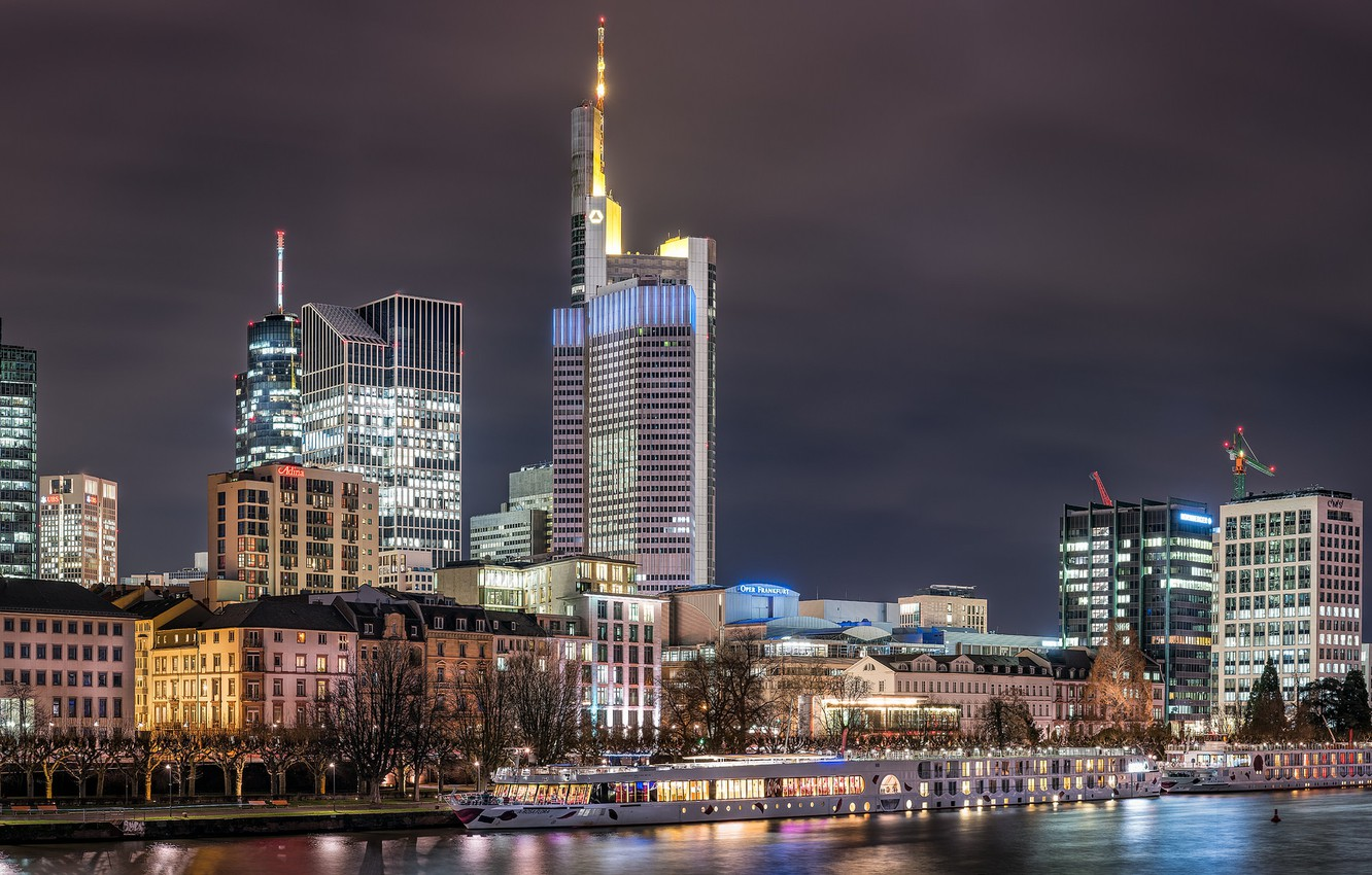 Photo wallpaper Germany, Frankfurt am main, Frankfurt am Main