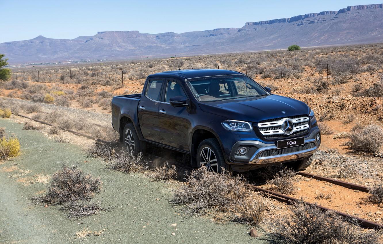 Photo wallpaper rails, Mercedes-Benz, plain, Heath, pickup, 2018, dark blue, X-Class