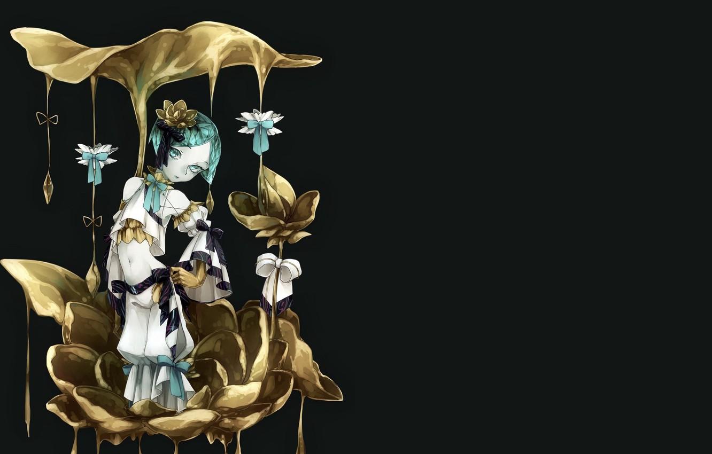 Photo wallpaper drops, liquid, girl, House no Kuni, Country gems