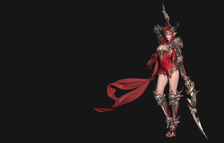 Photo wallpaper weapons, warrior, fantasy, art, Goddess of Dragon, Xie Hai Hua .