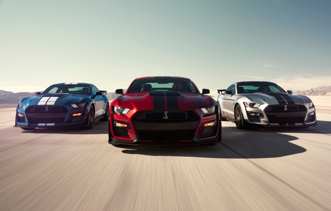 Photo wallpaper Mustang, Ford, Shelby, GT500, 2019