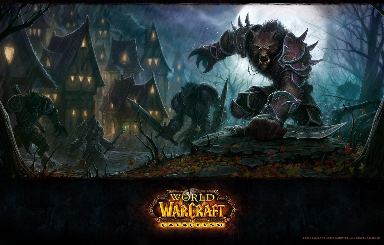 Wallpaper Wolf Warcraft Wow Cataclysm World Of Wacraft