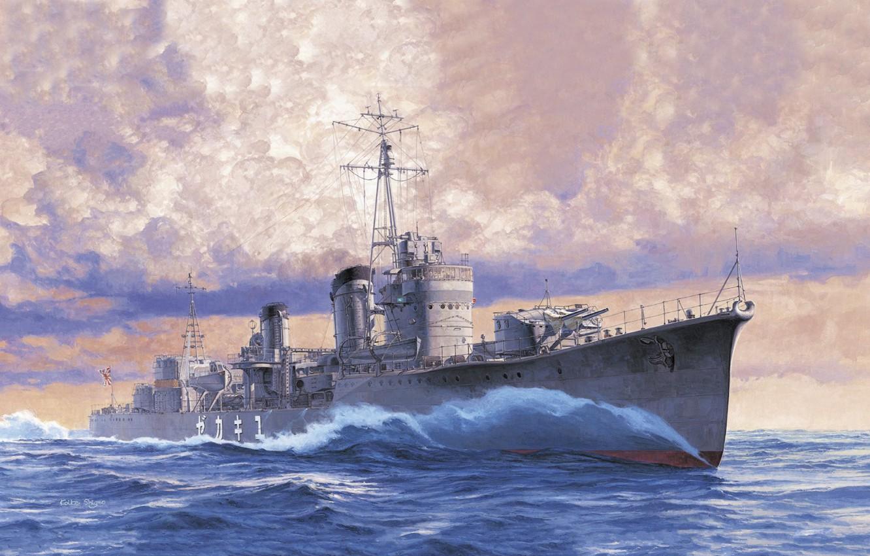 Photo wallpaper Japan, destroyer, IJN, destroyer, Yukikaze, Koike Shigeo
