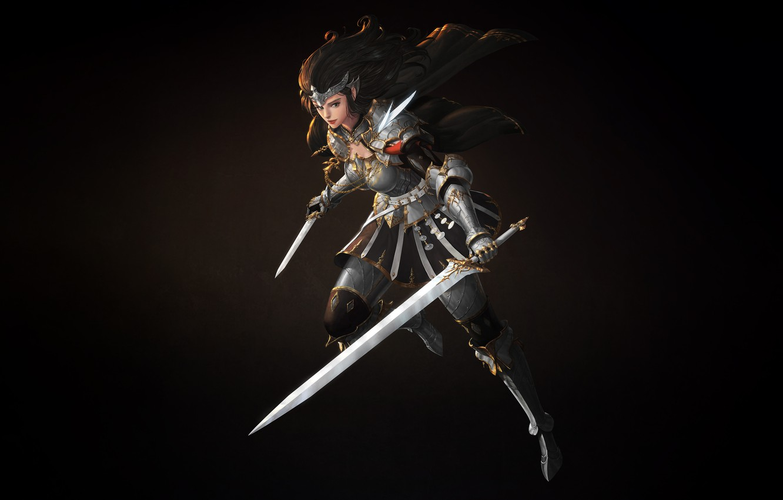 Fantasy Character Art Female Dagger Knife