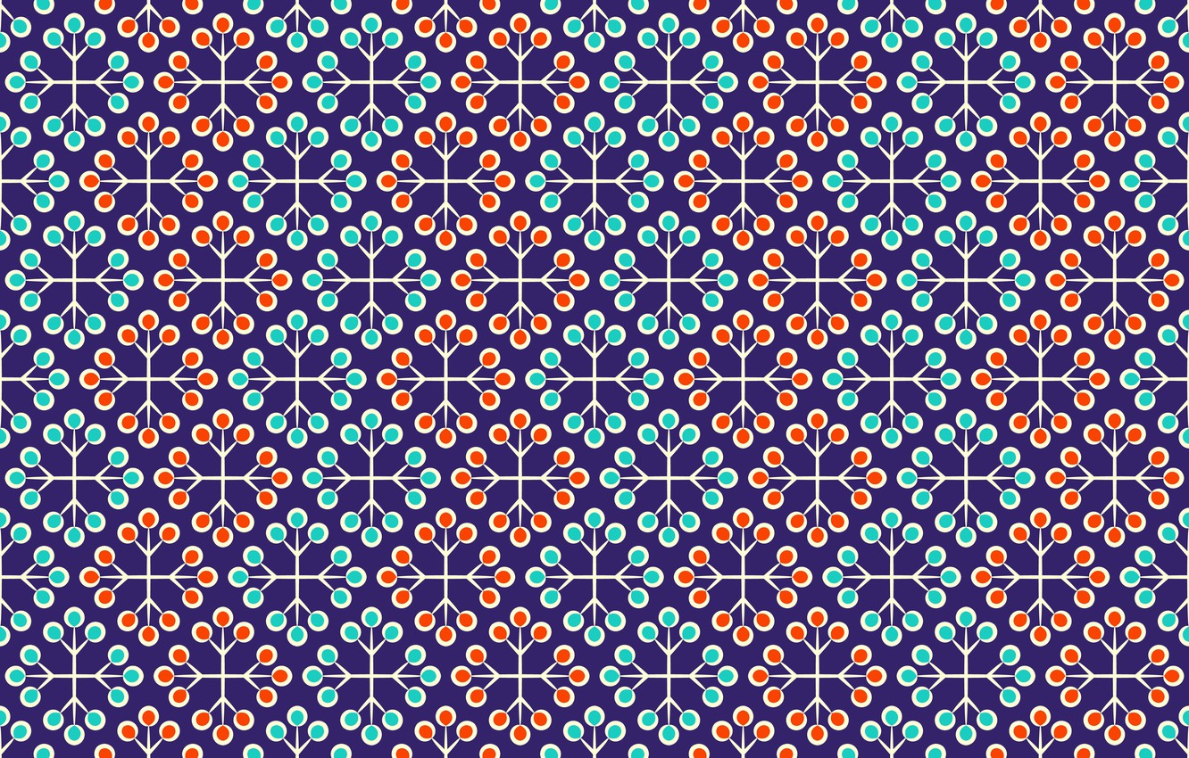 Photo wallpaper texture, red, ornament, Blue, with, background, pattern, floral