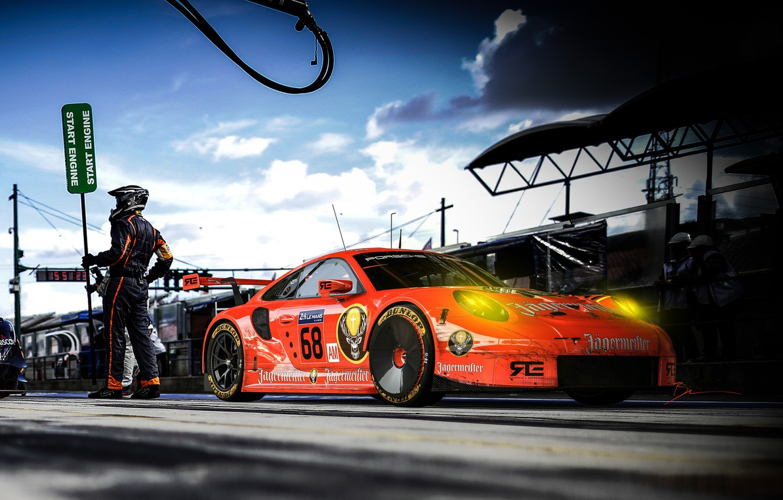 Photo wallpaper Auto, Porsche, Machine, Racer, Art, Rendering, Sports car, Game Art, Transport & Vehicles, Benoit Fraylon, …