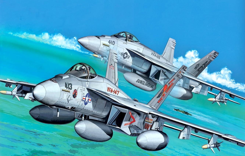 Wallpaper Usa Super Hornet F A 18 Multi Role Fighter Carrier