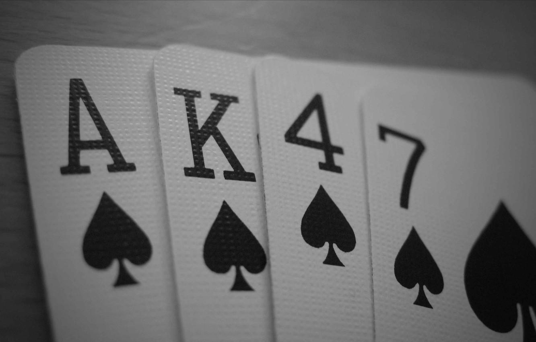 Photo wallpaper card, poker, flash
