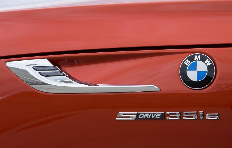 Photo wallpaper the inscription, BMW, Roadster, 2013, E89, BMW Z4, Z4, sDrive35is, sidewall