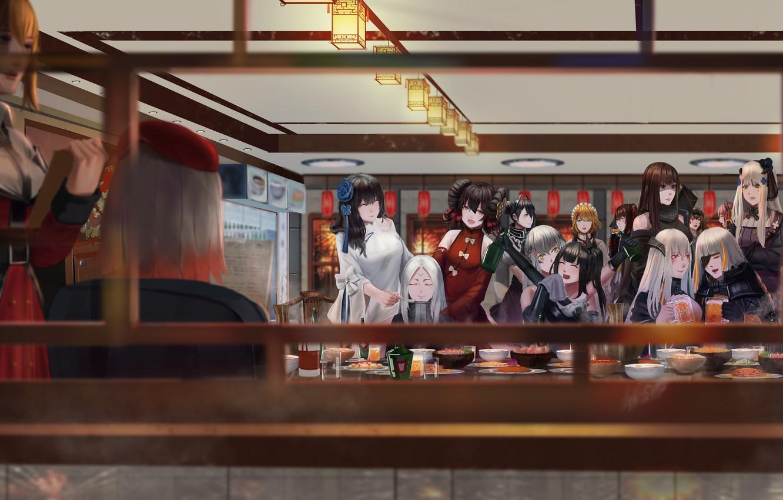 Photo wallpaper girls, restaurant, characters, Girls Frontline