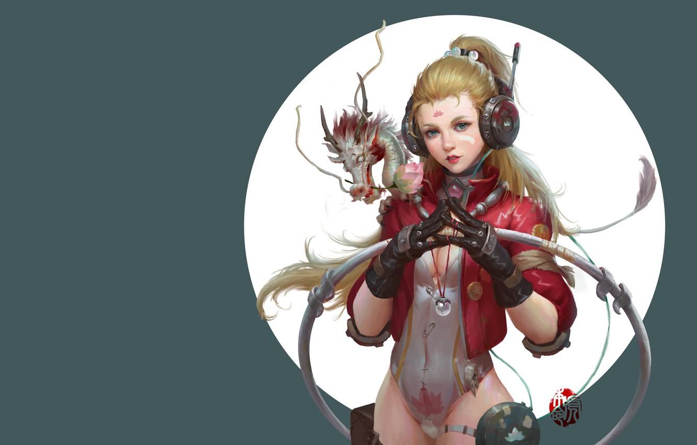 Photo wallpaper fantasy, art, dragon, jinhao yang