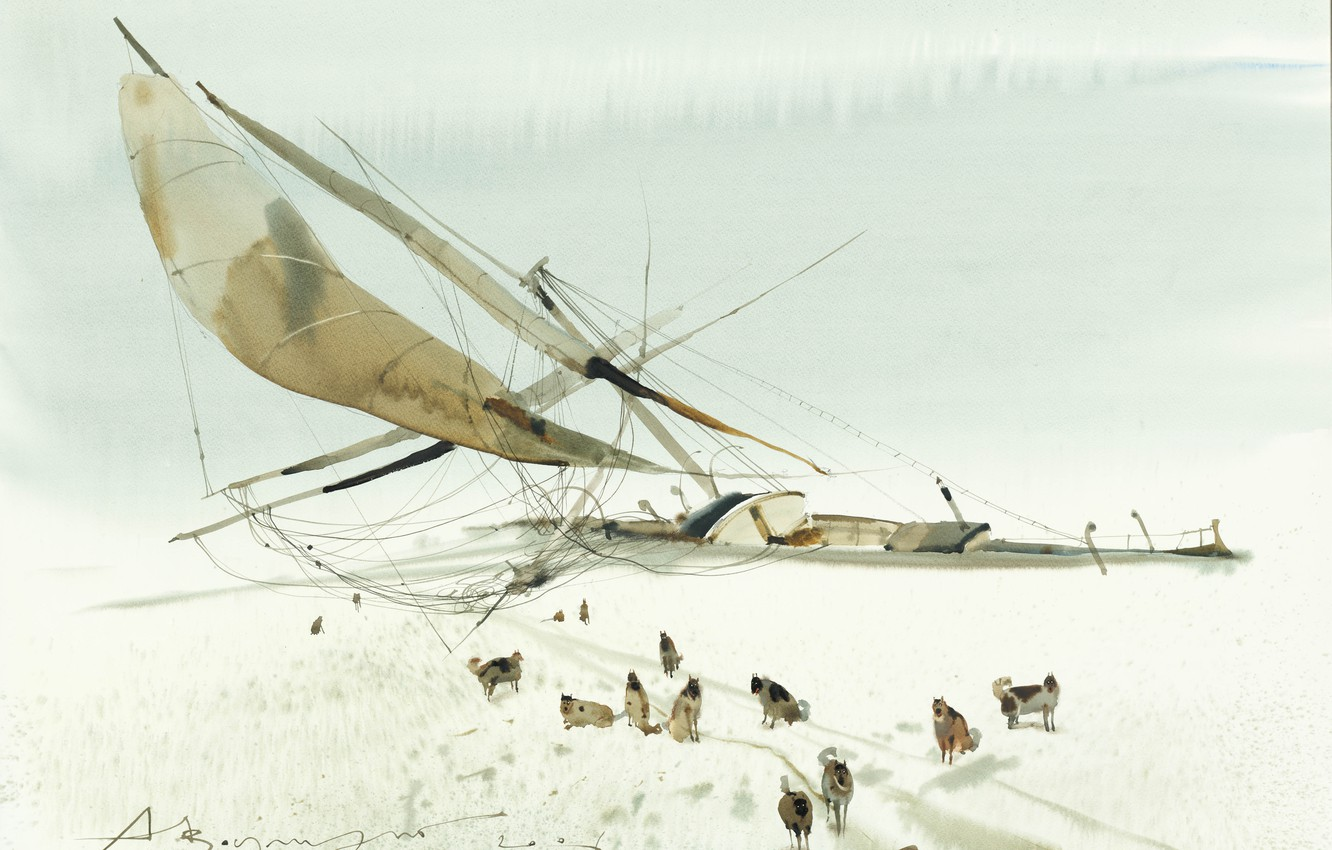 Photo wallpaper Arusha Vozmus, this is not a dog sled, Alas