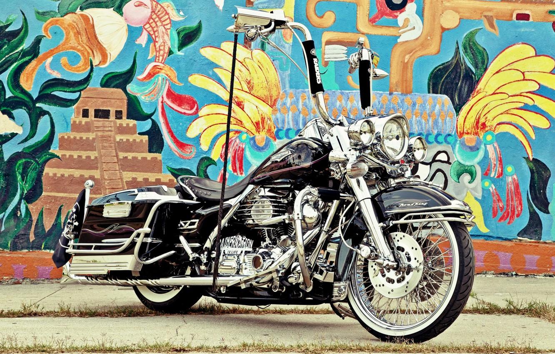 Photo wallpaper Harley-Davidson, Motorcycle, Bagger
