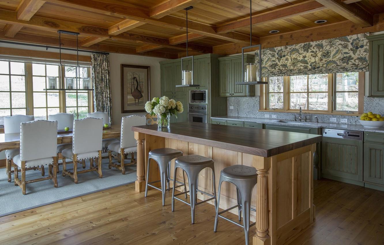 Photo wallpaper design, interior, kitchen, dining room
