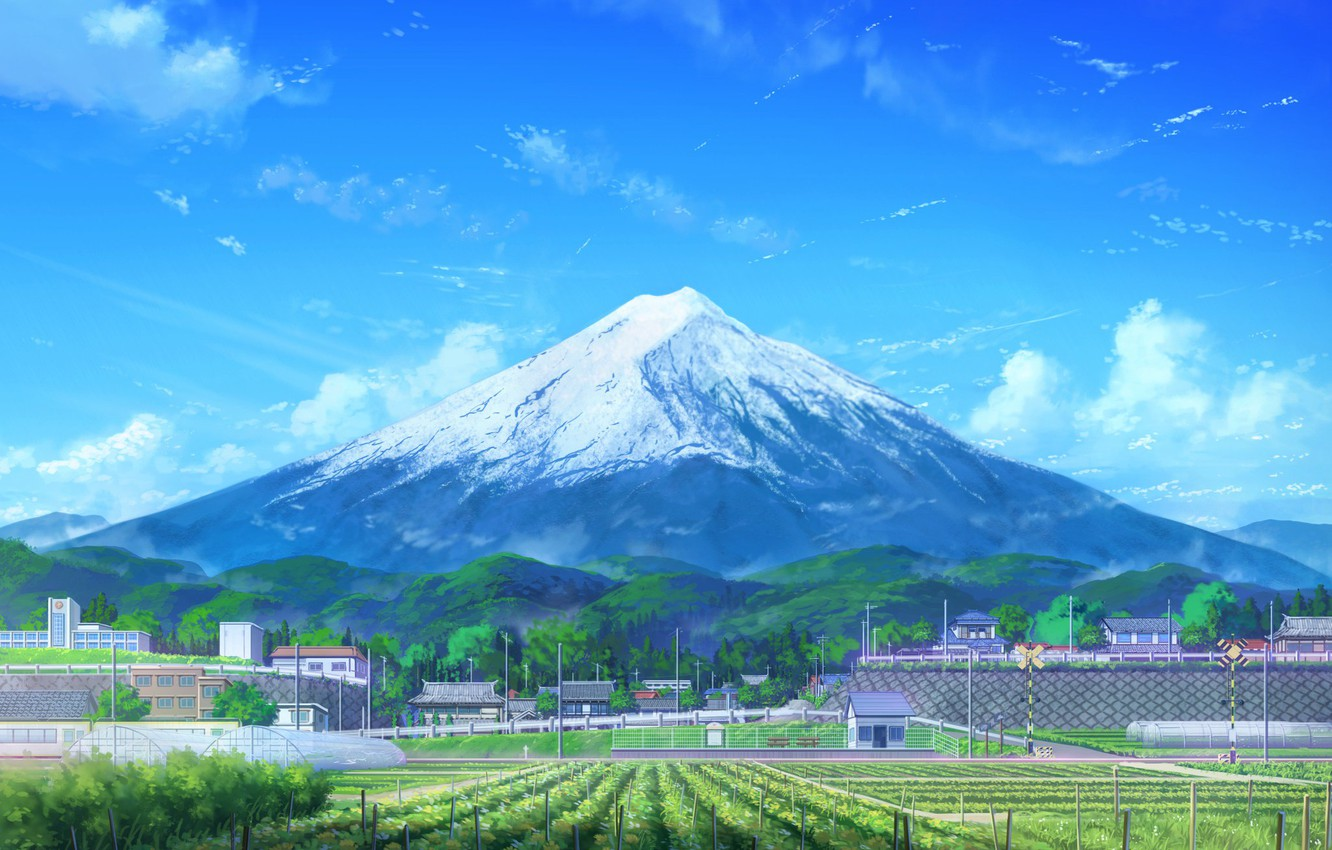 Wallpaper Japan Mountain The Volcano Style Fuji Day Japan Landscape Art Art Landscape Mountain Style Day Fuji Volcano Images For Desktop Section Art Download
