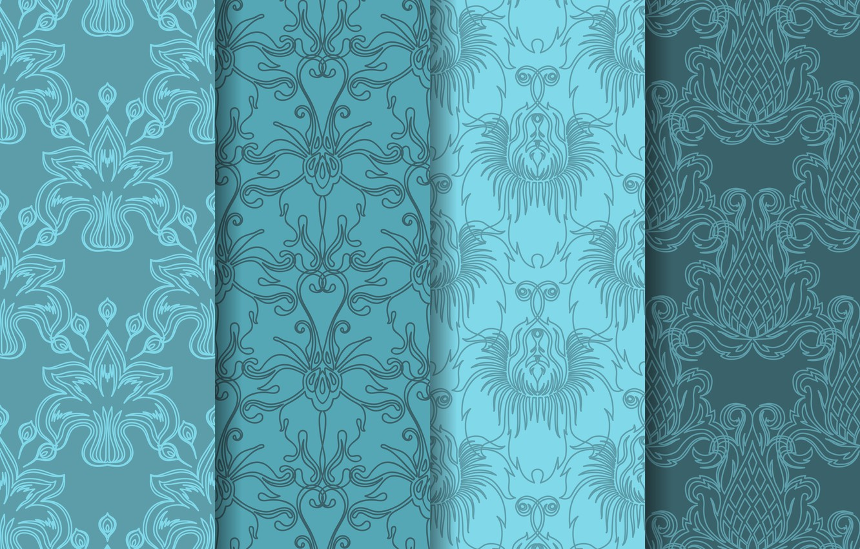 Photo wallpaper flowers, background, blue, texture