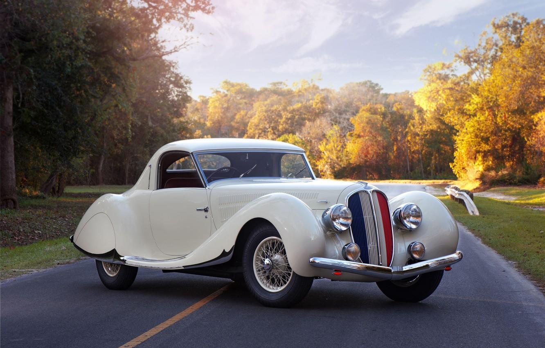 Photo wallpaper Coupe, Retro, Delahaye 135 MS