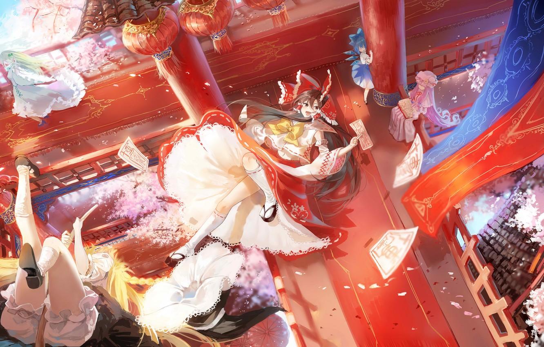 Photo wallpaper girls, fantasy, Touhou, Touhou, Touhou