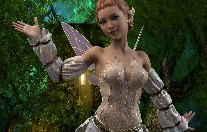 Photo wallpaper girl, fantasy, costume