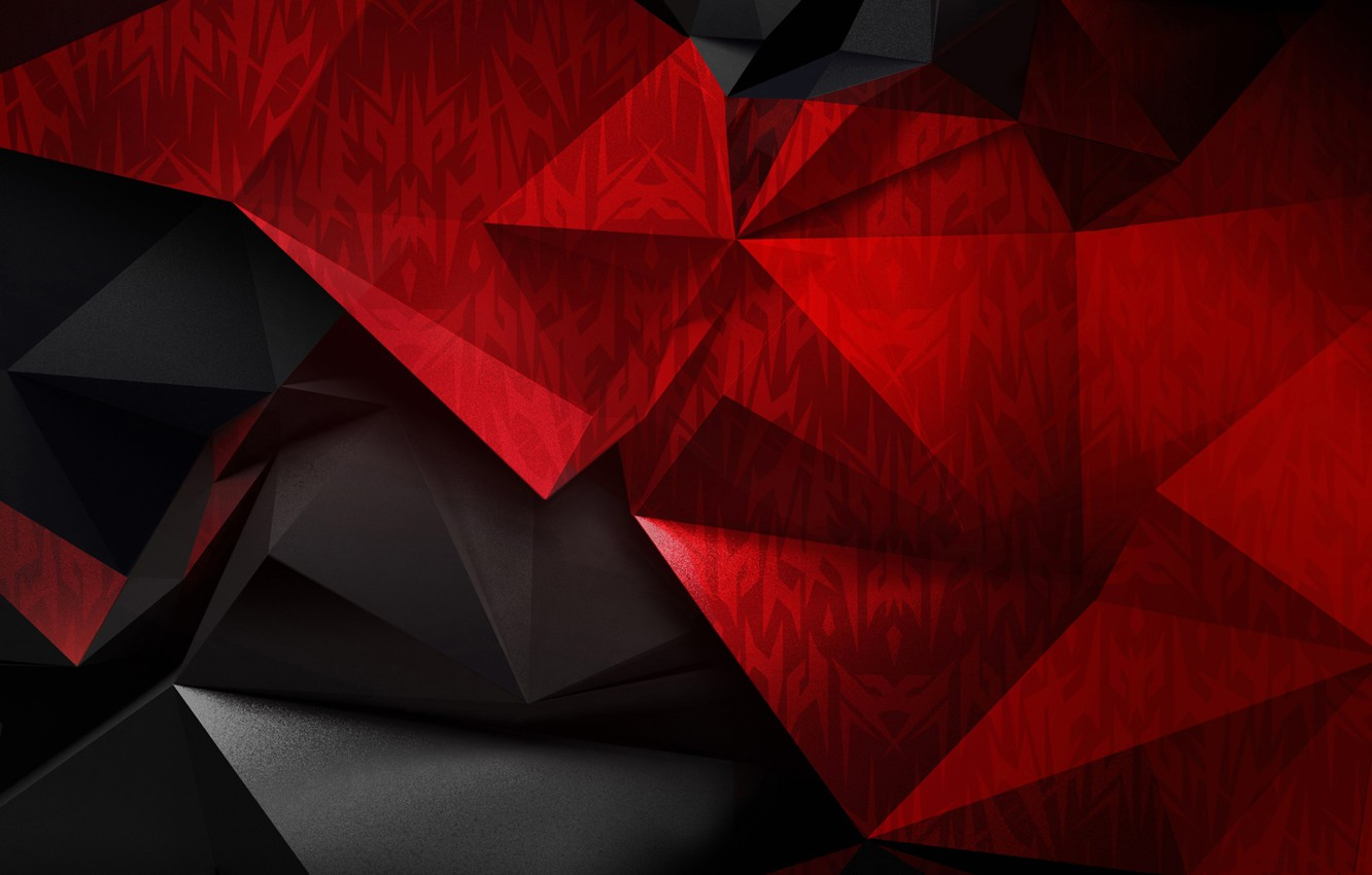 Photo wallpaper pattern, paint, the volume, low poly