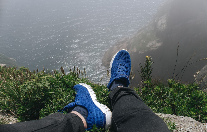 Photo wallpaper sea, rock, open, the ocean, island, sea, ocean, sneakers, sea view, on the edge, sneakers