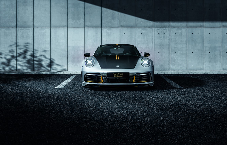 Photo wallpaper 911, Porsche, front view, Carrera, TechArt, 992, 2019