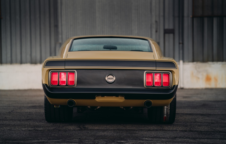 Photo wallpaper Mustang, Ford, Boss 302, rear view, 1970, SpeedKore, RDJ