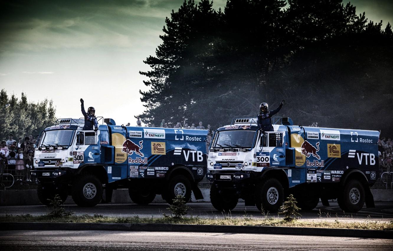 Photo wallpaper Auto, Sport, Machine, Truck, Master, Russia, 500, 300, Kamaz, Rally, Dakar, KAMAZ-master, Dakar, Rally, KAMAZ, …