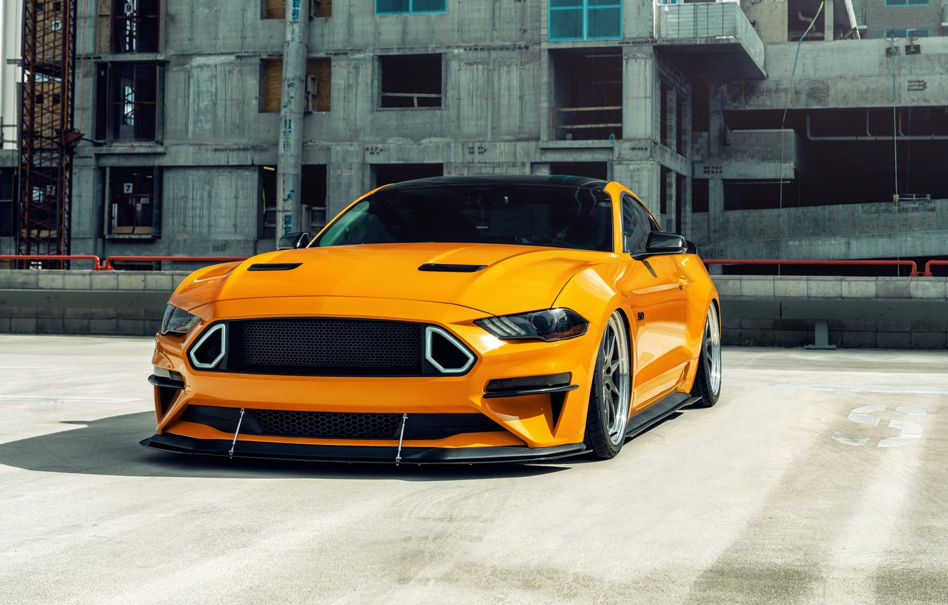 Photo wallpaper Mustang, Ford, Ford Mustang GT