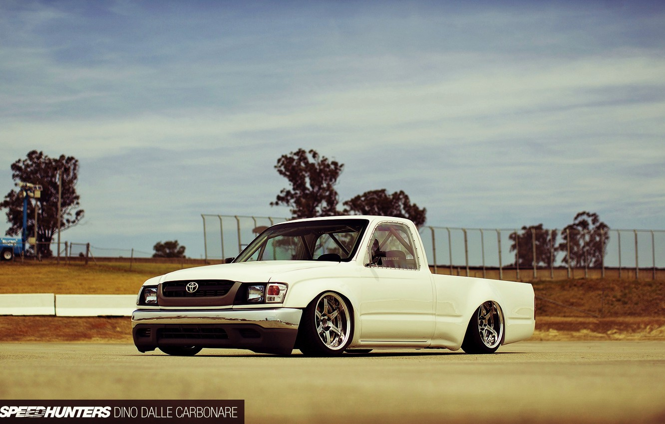 Photo wallpaper Toyota, Car, Hilux, White, Tuning