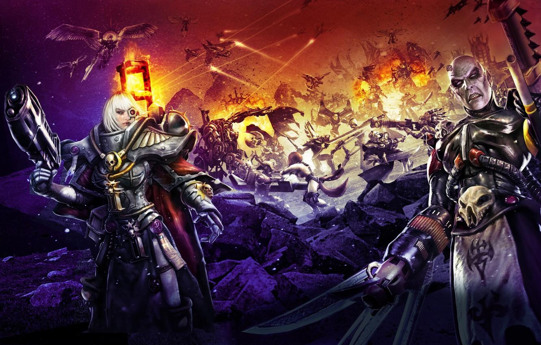 Photo wallpaper game, chaos, war, Adept Sororitas, demons, Warhammer 40 000, Sister of Battle, Dark Eldar, Dawn …