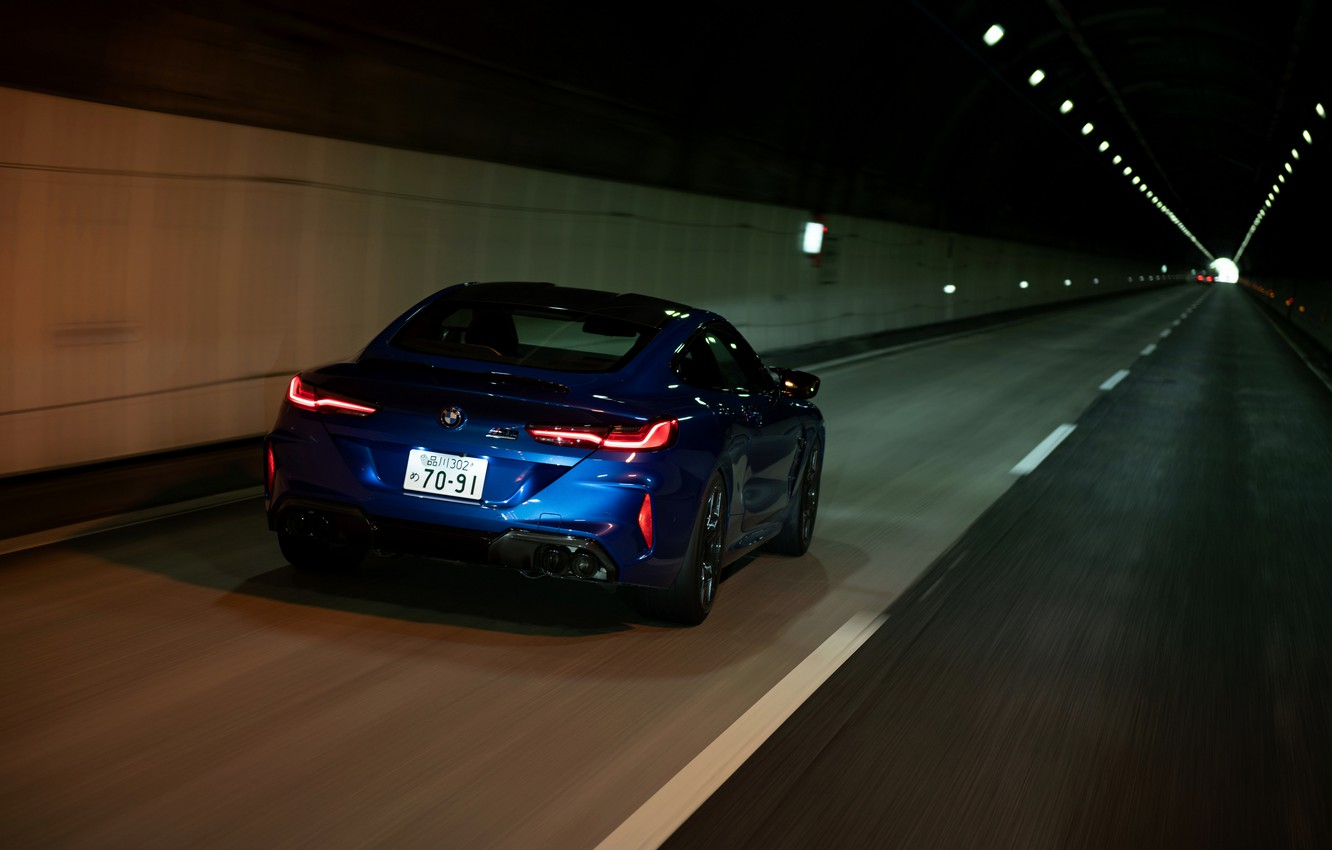 Photo wallpaper coupe, BMW, the tunnel, Coupe, 2020, BMW M8, two-door, M8, M8 Competition Coupe, M8 Coupe, …