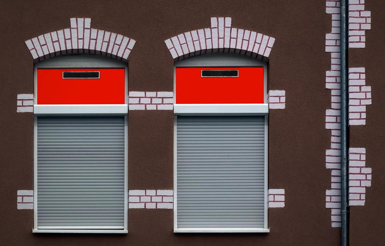 Photo wallpaper house, wall, Windows