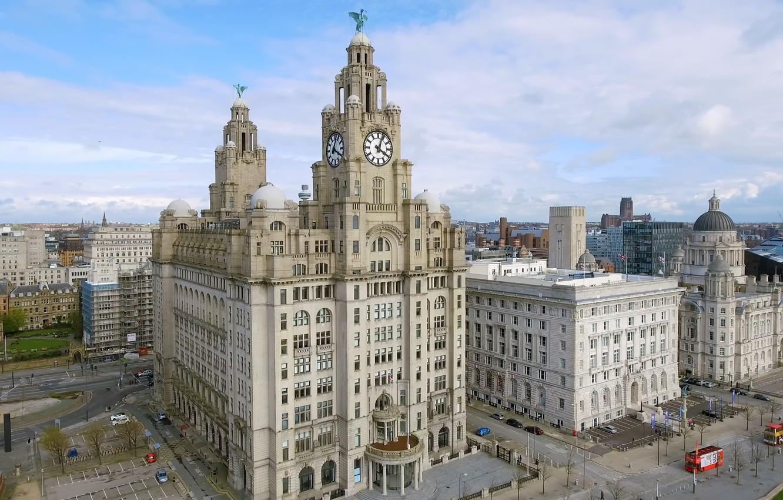 Photo wallpaper Liverpool, England, buildings