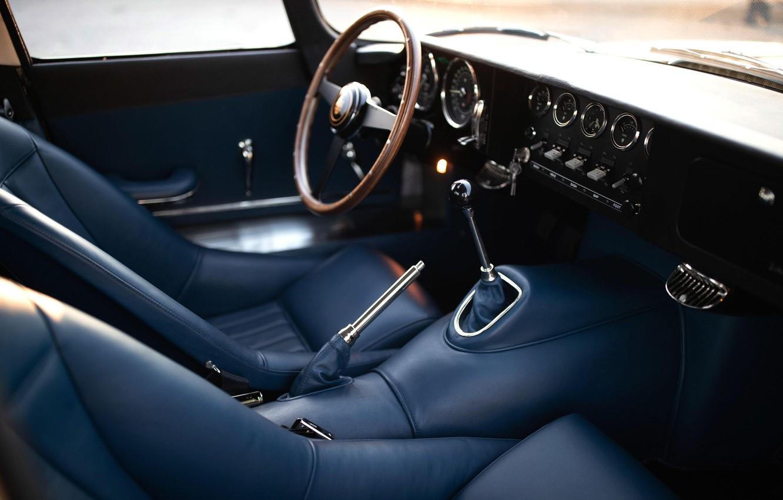 Photo wallpaper Salon, Mechanics, Interior, Jaguar E-Type